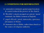 2 conditions for reformation