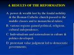 4 results of the reformation