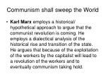 communism shall sweep the world