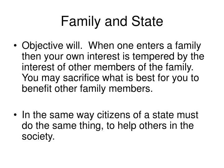 Family and State