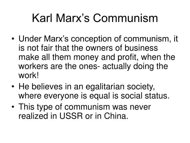 Karl Marx's Communism