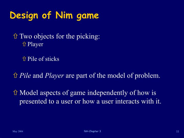 Design of Nim game
