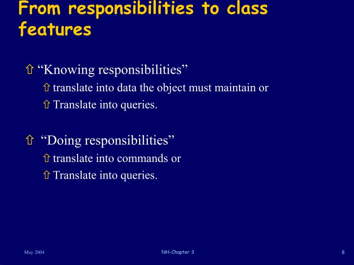 From responsibilities to class features
