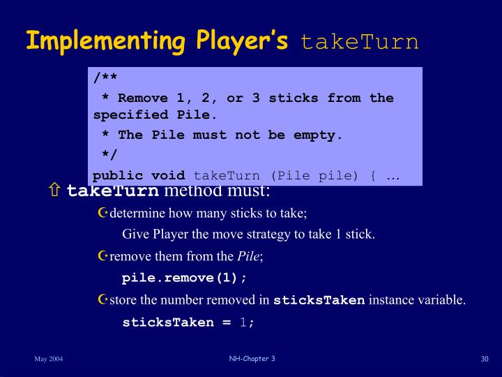 Implementing Player's