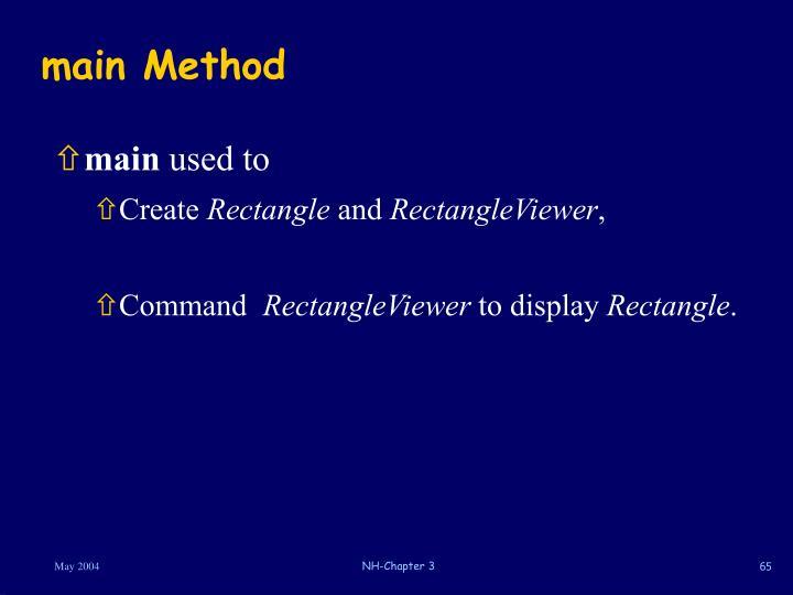 main Method