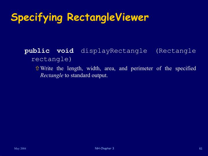 Specifying RectangleViewer