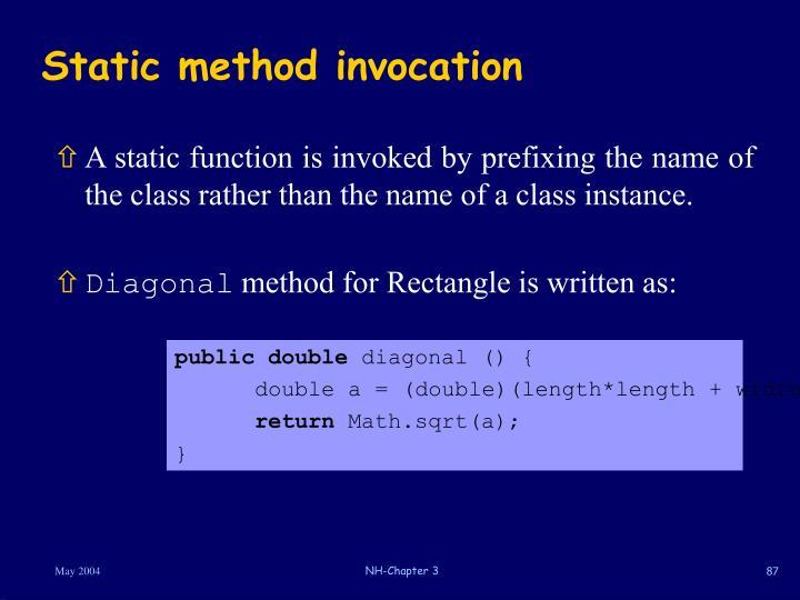 Static method invocation