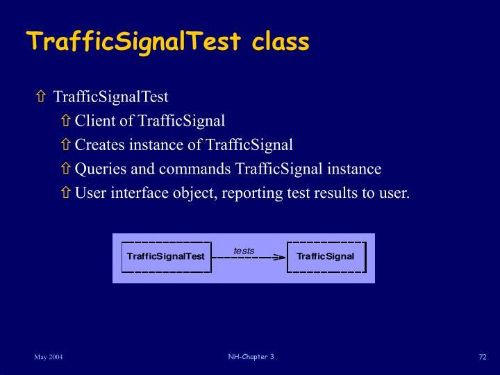 TrafficSignalTest class