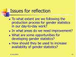 issues for reflection