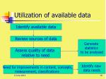 utilization of available data