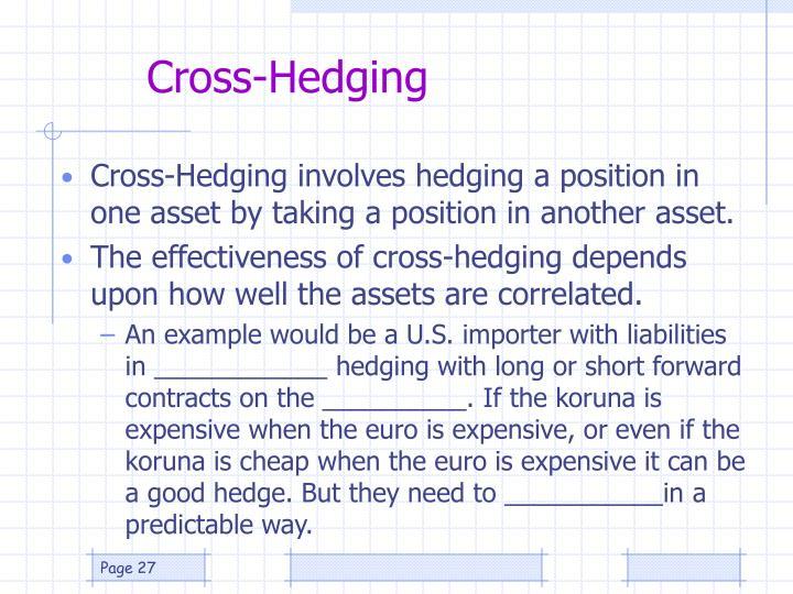 Cross-Hedging