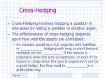 cross hedging