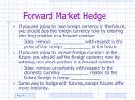 forward market hedge