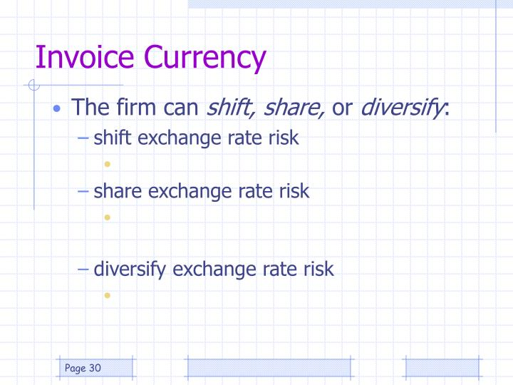 Invoice Currency