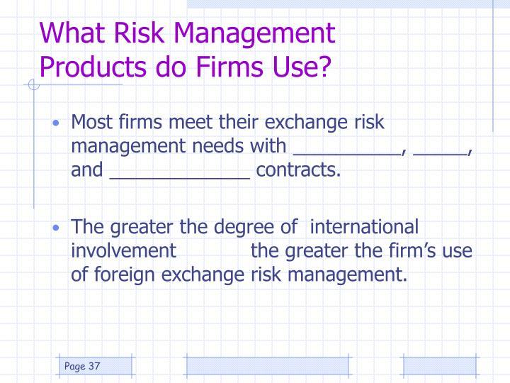 What Risk Management