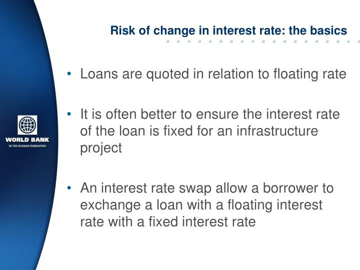 Risk of change in interest rate: the basics