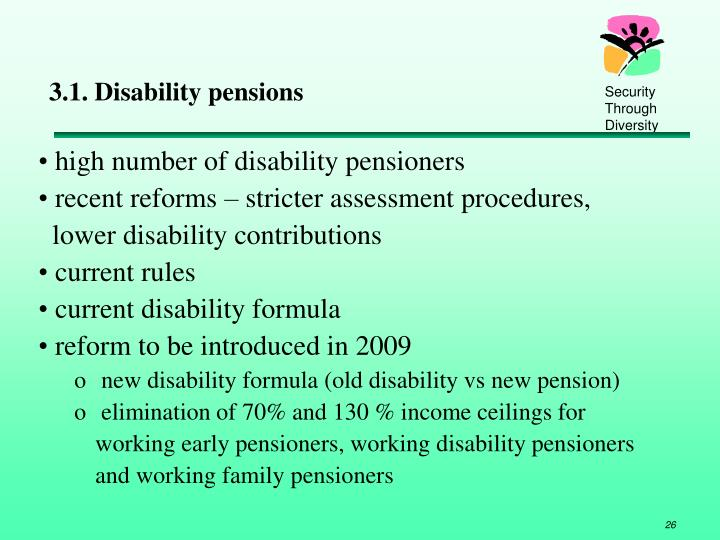 3.1. Disability pensions
