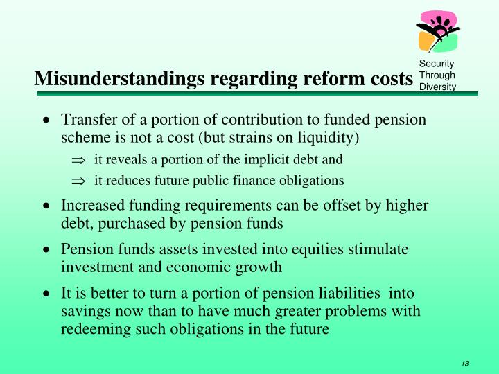 Misunderstandings regarding reform costs