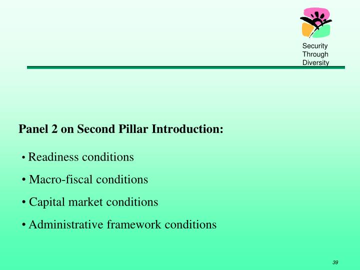 Panel 2 on Second Pillar Introduction: