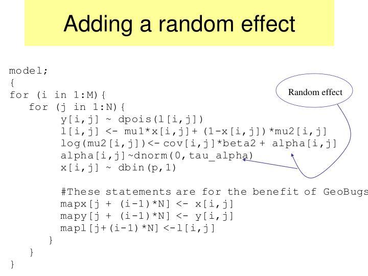 Adding a random effect
