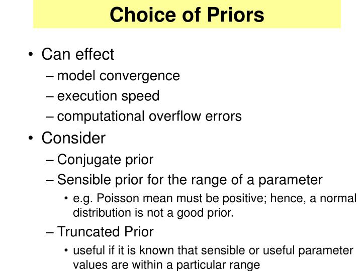 Choice of Priors