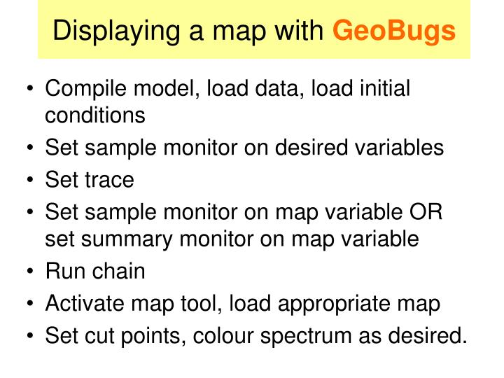 Displaying a map with