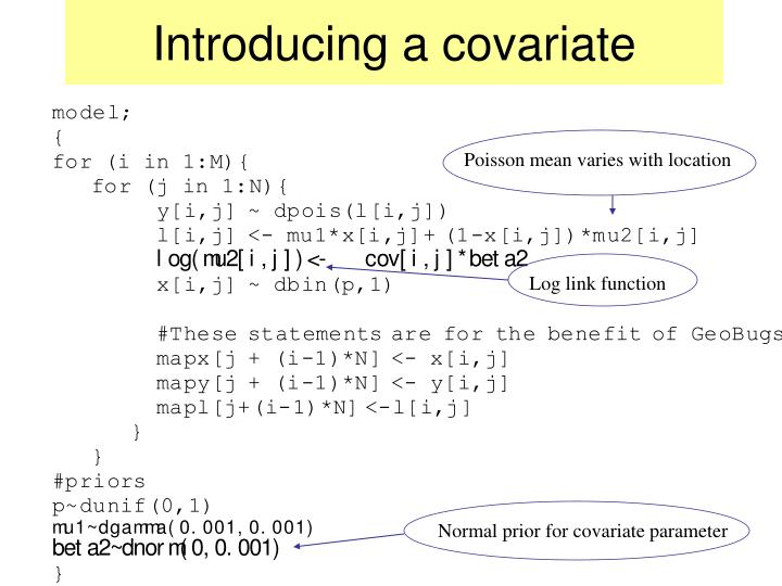 Introducing a covariate
