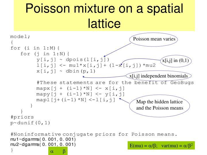 Poisson mixture on a spatial lattice