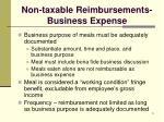 non taxable reimbursements business expense