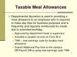 taxable meal allowances