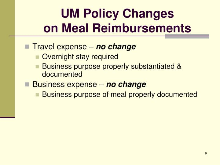Ppt Meal Reimbursements Powerpoint Presentation Id 1282699