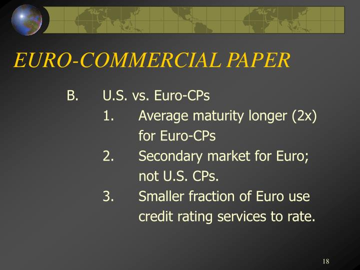 EURO-COMMERCIAL PAPER