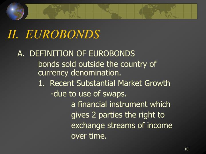 II.  EUROBONDS