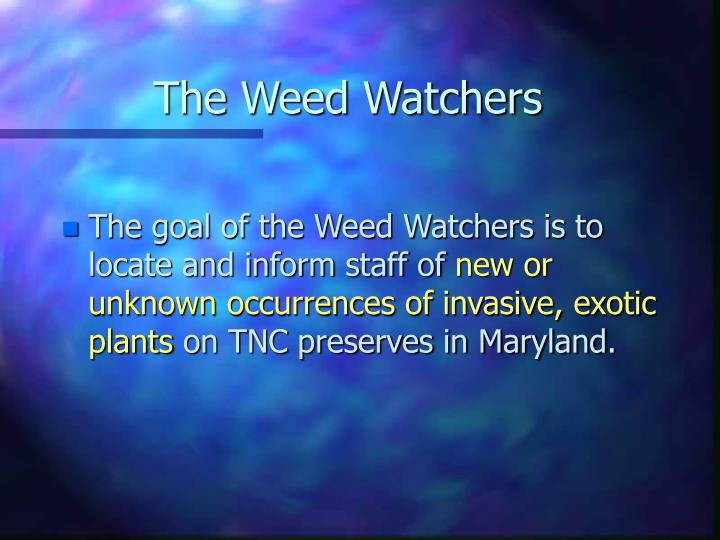 The Weed Watchers