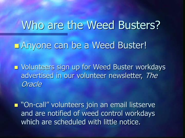 Who are the Weed Busters?