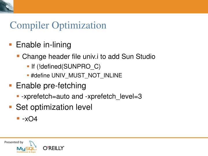 Compiler Optimization