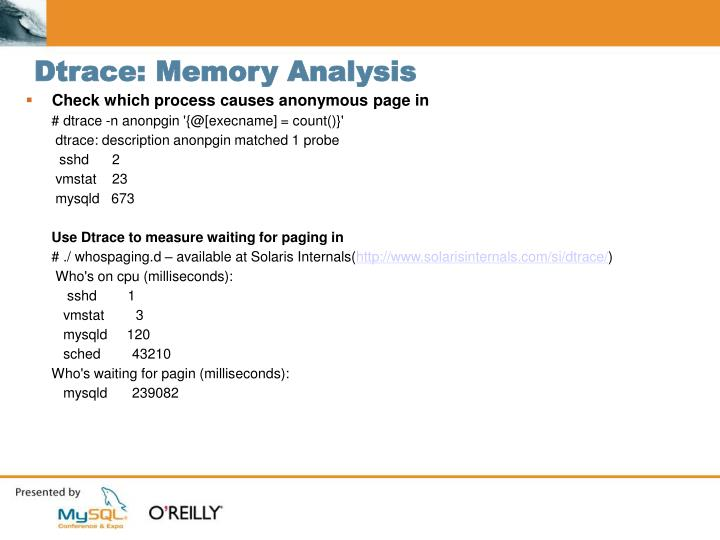 Dtrace: Memory Analysis