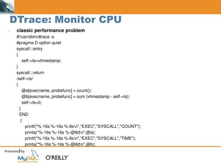 DTrace: Monitor CPU