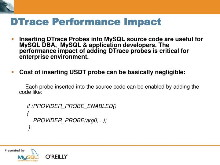 DTrace Performance Impact