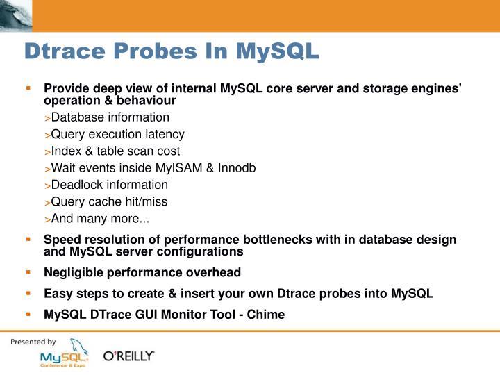 Dtrace Probes In MySQL