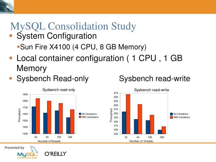 MySQL Consolidation Study