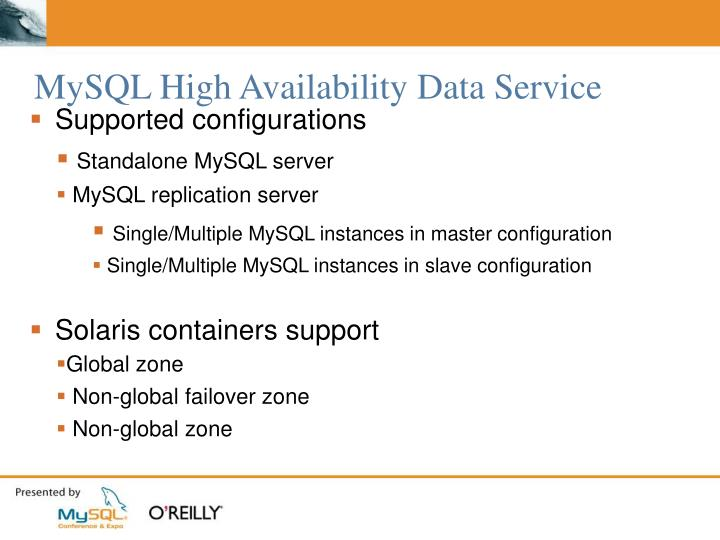 MySQL High Availability Data Service