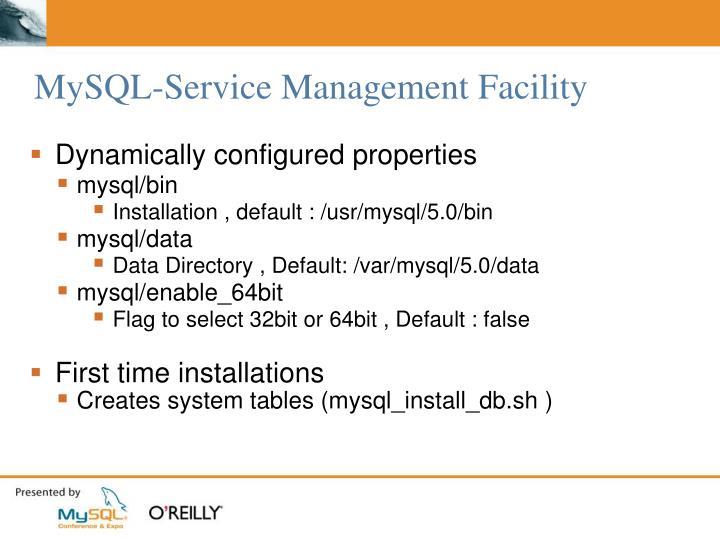 MySQL-Service Management Facility