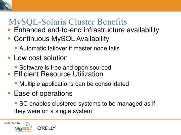 MySQL-Solaris Cluster Benefits