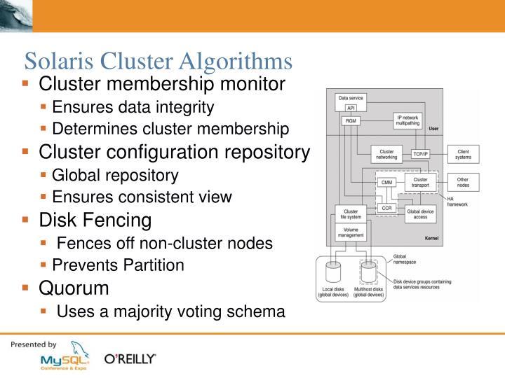 Solaris Cluster Algorithms