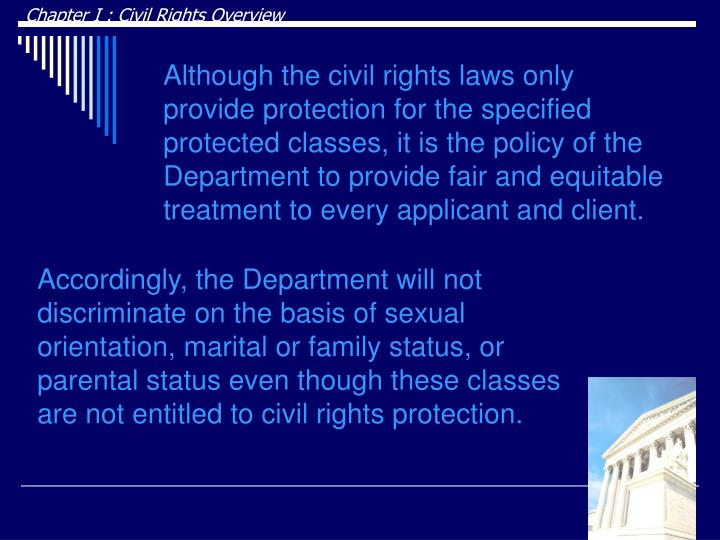 Chapter I : Civil Rights Overview