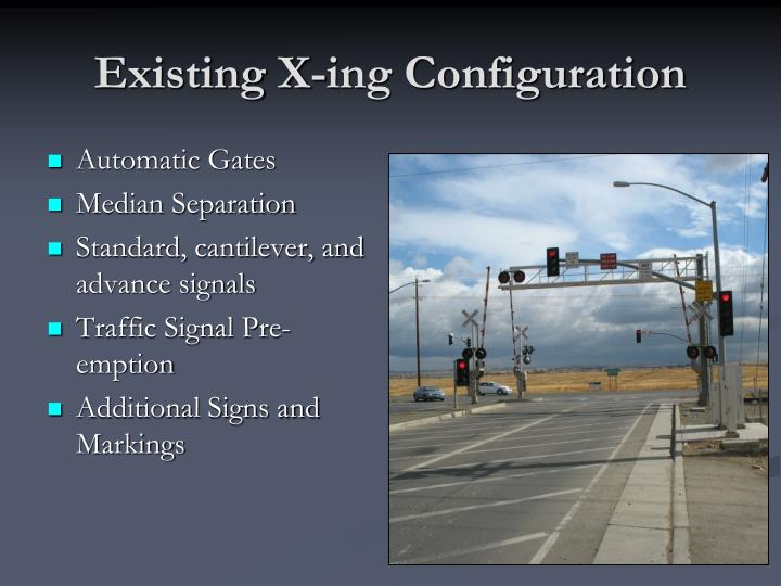 Existing x ing configuration