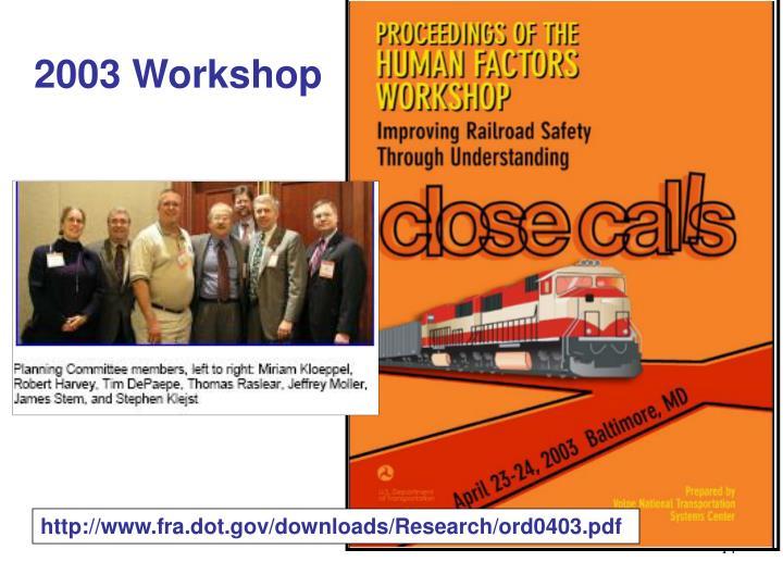 2003 Workshop