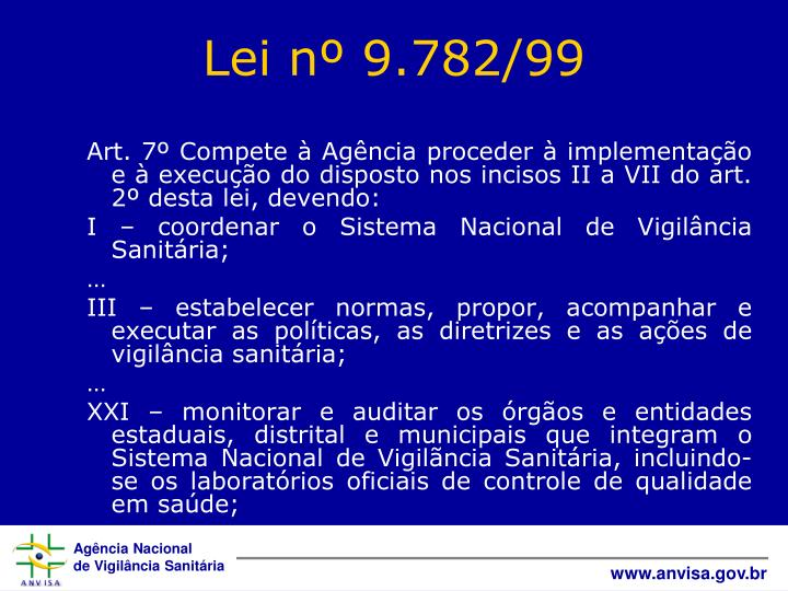 Art. 7º Compete à Agência proceder à implementação e à execução do disposto nos incisos II a VII do art. 2º desta lei, devendo: