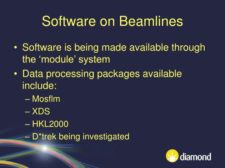 Software on Beamlines